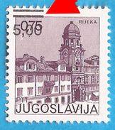 1980 1856  OVERPRINT  RRR MOVED  RIJEKA   GUMM MATT JUGOSLAVIJA JUGOSLAWIEN JUGOSLAVIA MNH - 1945-1992 Sozialistische Föderative Republik Jugoslawien