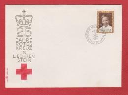Liechtenstein  --  Env 25 Jahre Rote Kreuz  --  30 Avril 1970 - Liechtenstein