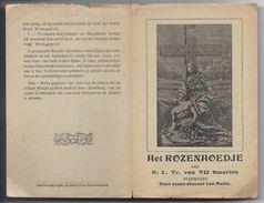 HET ROZENHOEDJE VAN O.L.VR. VAN VII SMARTEN OVERWOGEN DOOR EENEN DIENAAR VAN MARIA GERAARDSBERGEN DRUK. VAN NIEUWENHOVE - Images Religieuses