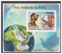 0070 Comores 2008 Nobel Laureaten Peace Pigeon1991 S/S MNH Imperf - Nobelprijs