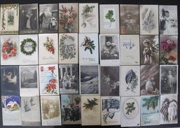 Lot De 100 Cartes Fantaisies Et Kitch Circulées - Cartes Postales