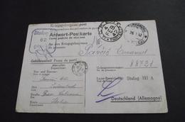 482. Kriegsgelangenpost  Antwort Postcarte Stalag III A Send To Lubiana Slovenia - Slovénie