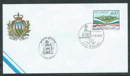 1990 SAN MARINO FDC COSSIGA NO TIMBRO ARRIVO - KS4 - FDC
