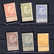 1893-00   Léopold II (fine Barbe),  Entre 58 Et 65*, Cote 270 €,  Beaux Et Frais - 1893-1900 Schmaler Bart