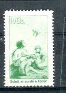 Suisse Pro Juventute 1912 Mi/Zst II 16 ** XX Précurseur Vert Légende Française - Nuovi