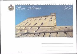 SAN MARINO - BUSTA: CENTENARIO PALAZZO DEL CONSIGLIO - L. 5050 - 1994 - CATALOGO FILAGRANO BU6 - NUOVA ** - Postwaardestukken