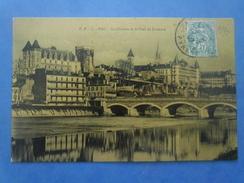 64-PAU Le Chateau Et Le Pont Jurançon , Circulée En 1907 - Pau