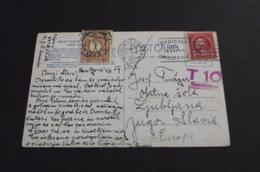 501. Letter NewYork (USA)-Yugoslavia (Ljubljana) 1929. - 1919-1929 Königreich Der Serben, Kroaten & Slowenen