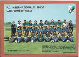 Inter 1980-81 - Non Viaggiata - Football