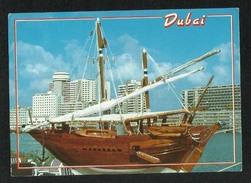 United Arab Emirates UAE Dubai Picture Postcard Dhow Boat Ship  Dubai View Card - Dubai