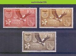 Mwe2461 FAUNA VOGELS OOIEVAAR BIRDS STORK STORCH VÖGEL AVES OISEAUX SAHARA ESPANOL 1958 PF/MNH # - Storchenvögel