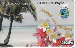 COMOROS ISL. - Beach, Les Comores, SNPT Prepaid Card 2500 Fc, Used - Comoros