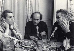 CPM Jacques Brel, Leo Ferre, G Brassens ( Jean Pierre Leloir) NON ECRITE - Chanteurs & Musiciens