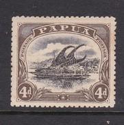 Papua SG 52 1907 Lakatoi 4d Black And Sepia Mint Hinged - Papua New Guinea