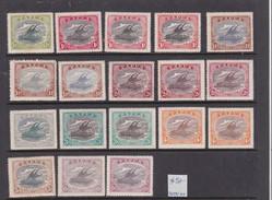 Papua SG 93-101 1916-31 Lakatoi Selection Mint Never Hinged And Hinged - Papua New Guinea
