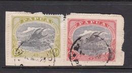 Papua SG 94-95 1916-31 Lakatoi Stamps On Piece Used - Papua New Guinea