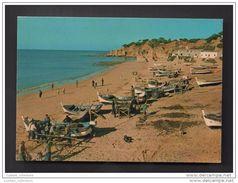 OLHOS DE AGUA 1960 YEARS PORTUGAL ALGARVE ALBUFEIRA PRAIA PLAGE BEACH & BARCOS DE PESCA FISHING BOATS BATEAUX DE PECHE - Faro
