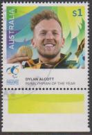 AUSTRALIA - USED 2016 $1.00 Paralympian Of The Year - Dylan Alcott - 2010-... Elizabeth II