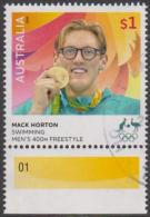 AUSTRALIA - USED 2016 $1.00 Olympic Games Gold Medal Winner - Swimming - Mack Horton - 2010-... Elizabeth II