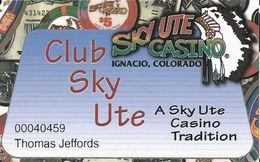 Sky Ute Casino - Ignacio, CO USA - Slot Card - Casino Cards