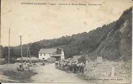 FONTENOY LE CHÂTEAU Carrières Du Moulin Battant Chantiers Voll Animée - Frankrijk