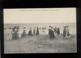 44 St Brévin L'océan La Plage à L'heure Du Bain édit. Lefèvre Lagrange , âne , Dames Femmes - Saint-Brevin-l'Océan