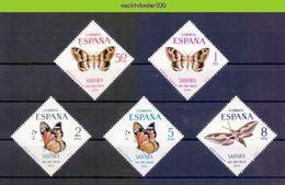 Mwe2474 FAUNA VLINDERS BUTTERFLIES MOTHS SCHMETTERLINGE MARIPOSAS PAPILLONS SAHARA ESPANA 1970 PF/MNH - Vlinders