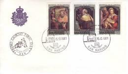 San Marino 1981 - FDC Natale, Dipinti - FDC