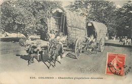 CEYLAN - SRI LANKA - ATTELAGES - CHARETTES CINGALAISE DECOREES - CARTE EN TRES BON ETAT. - Sri Lanka (Ceylon)