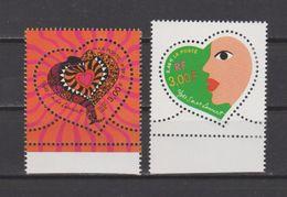 FRANCE / 2000 / Y&T N° 3295/3296 ** : Cœurs YSL (les 2 TP De Feuille) - Gomme D´origine Intacte - Francia