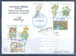 D559- Used Cover Post To Pakistan From Turkey. Plants. Flowers. - Other
