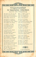 KRIEGS SCHNADAHUPFL IM BAYERISCHEN UNTERSTAND  AUS DER LILLER KRIEGSZEITUNG  K.  MUTH KLINGENBRUN - Guerre 1914-18