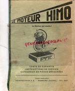 ALLEMAGNE- LE MOTEUR HIMO TYPE 51- FTK- FEINTECHNIK A.G. HOMBURG-SARRE- 1953- - Cars