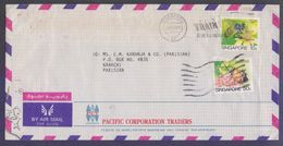 Honey Bee Insects, Postal History Cover From SINGAPORE, Used 1988 - Abeilles
