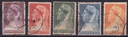 Curacao 1936 Koningin Wilhelmina  Met Sluier 5 Waarden 6 / 20 Cent NVPH 126 / 130 - Curaçao, Nederlandse Antillen, Aruba
