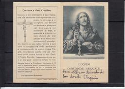 2 Images  RICORDO COMUNIONE PASQUALE Et GESU CON MARTA E MARIA - Devotion Images