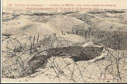 Le Front De Champagne -   La Butte De Mesnil, D´où Furent Chassés Les Allemands Après Un Bombardement   50 - Francia