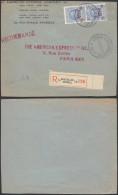 AO1025 Devant De Lettre Recommandée American Expres De Bruxelles 10 à Paris 1927 - Belgique