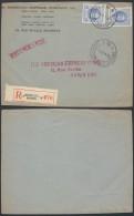 AO1026 Devant De Lettre Recommandée American Expres De Bruxelles 10 à Paris 1927 - Belgique