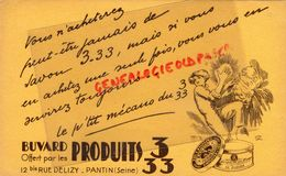 93 - PANTIN- BUVARD PRODUITS 3 33 - 12 BIS RUE DELIZY- SAVON SAVONNERIE- - Produits Ménagers