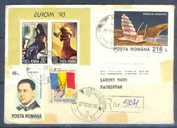 D578- Used Cover Post To Pakistan From Romaina. Flag. Painting.Europa - Romania