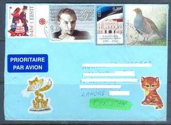 D579- Used Cover Post To Pakistan From Estonia. Eesti. Birds. Building. Drees - Estonia