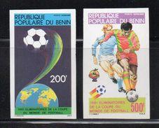 - BENIN - Yvert & Tellier Poste Aérienne 295/96 Neufs ** NON DENTELES 1981 - 200 F. + 500 F. COUPE DU MONDE DE FOOTBALL - Fußball-Weltmeisterschaft