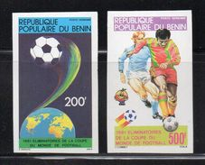 - BENIN - Yvert & Tellier Poste Aérienne 295/96 Neufs ** NON DENTELES 1981 - 200 F. + 500 F. COUPE DU MONDE DE FOOTBALL - World Cup