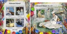 MALDIVES 2017 ** Edouard Manet Paintings Gemälde Peintures M/S+S/S - OFFICIAL ISSUE - DH1724 - Künste