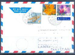 D591- Used Cover Post To Pakistan From Switzerland. Helvetia. Flowers - Switzerland