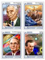 SIERRA LEONE 2017 ** Albert Einstein J. Robert Oppenheimer 4v - IMPERFORATED - DH1724 - Albert Einstein