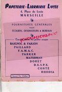 13 - MARSEILLE - BUVARD PAPETERIE LIBRAIRIE LYCEE-4 PLACE DU LYCEE- - Papeterie