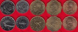 Tanzania Set Of 5 Coins: 5 Senti - 1 Shilingi 1976-1992 AU - Tanzania