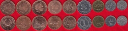 Different Countries Set Of 9 Coins 1992-2006 UNC - Monnaies